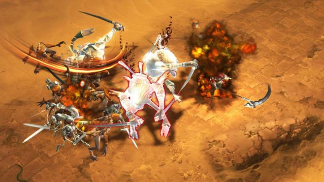 """Diablo 3: So spielt sich der Totenbeschwörer! Die """"Todessense"""" ist für die Nahkämpfer unter den Totenbeschwörern gedacht. Ihr Schaden ist zwar beachtlich, doch die Chance im Kampf zu sterben, entsprechend hoch. ©Blizzard"""