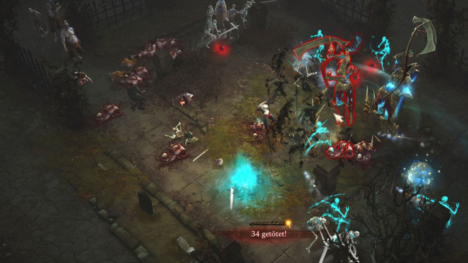 Diablo 3: So spielt sich der Totenbeschwörer! Laufen die beschworenen Skelette frei herum, bricht das absolute Chaos aus, was manchmal aber auch sehr cool ist. Mit einem Tastendruck rufen Sie die klapprigen Gestalten allerdings schnell zur Räson. ©Blizzard