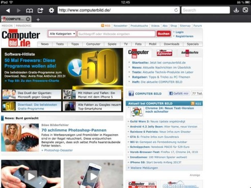 Screenshot Atomic Web Browser © COMPUTER BILD