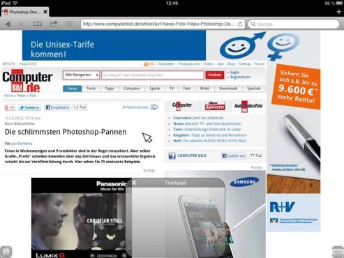 Screenshot Puffin Browser © COMPUTER BILD