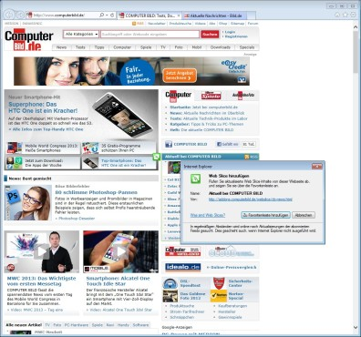 Screenshot 1 - Internet Explorer 10 (Windows 7, 32 Bit)