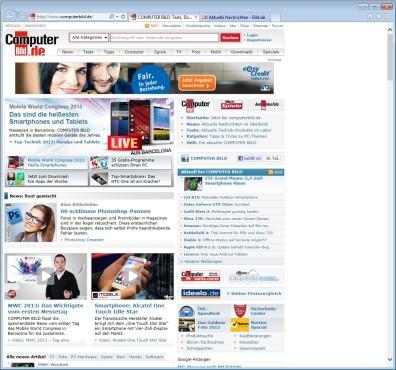 Screenshot 5 - Internet Explorer 10 (Windows 7, 32 Bit)