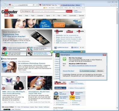 Screenshot 1 - Internet Explorer 10 (Windows 7, 64 Bit)