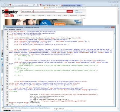 Screenshot 3 - Internet Explorer 10 (Windows 7, 64 Bit)