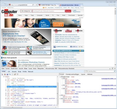Screenshot 4 - Internet Explorer 10 (Windows 7, 64 Bit)