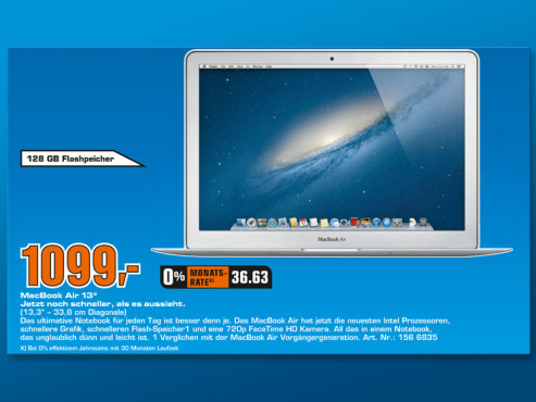Apple MacBook Air 13'' (MD231D/A) © Saturn