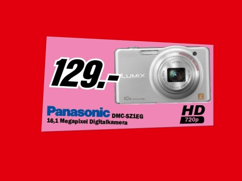 Panasonic Lumix DMC-SZ1 © Media Markt