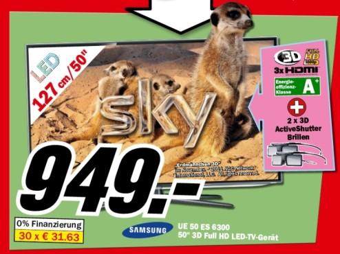 Samsung UE50ES6300 ©Media Markt