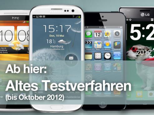�bersicht: Die besten Smartphones (altes Testverfahren) ©HTC, Samsung, Apple, LG