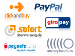 Online-Bezahldienste im Test © Giropay GmbH, PayPal, ClickandBuy International Ltd, Sofort AG, Prepaid Services Company Limited, Moneybookers