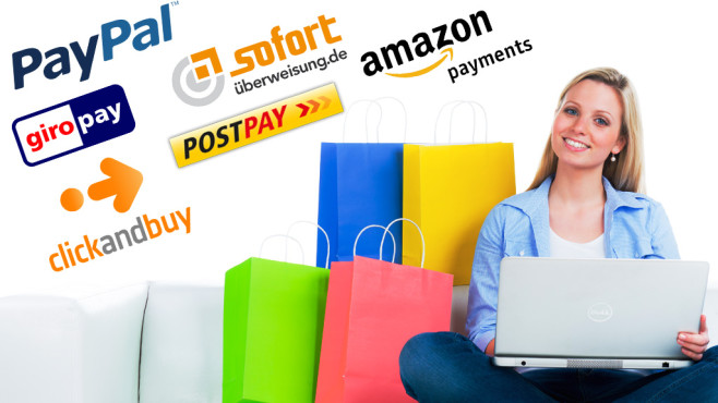Test: Bezahldienste im Internet © Picture-Factory - Fotolia.com; PayPal, Sofortüberweisung, Postpay, Giropay, Click and Buy, Amazon Payments