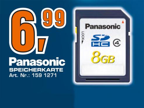 Panasonic SDHC Card Blau 8 GB Class 4 ©Saturn