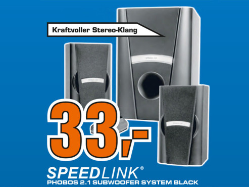 Speed-Link Serenity XXL 2.1 System (SL-8265-SBK) ©Saturn