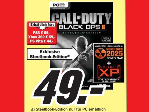 Call of Duty: Black Ops 2 - Steelbook Edition (PC) © Media Markt