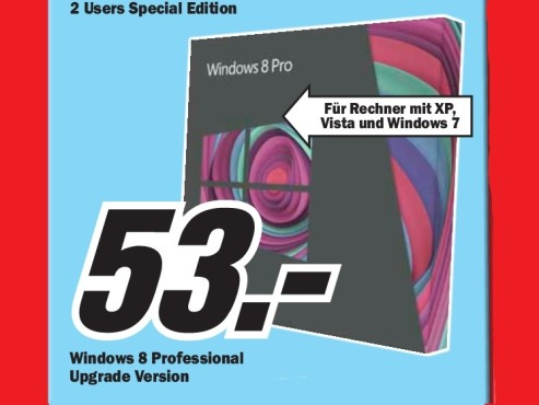 Microsoft Windows 8 Pro Upgrade (DE) © Media Markt