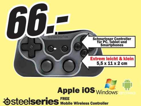 Steel Series Free Mobile Wireless Controller © Media Markt