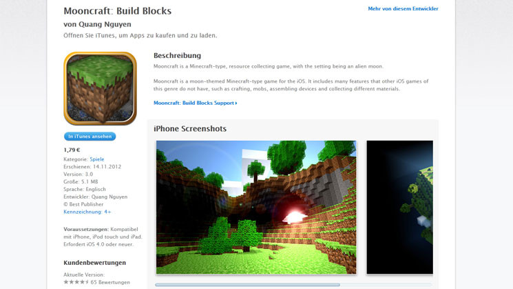 Mooncraft build blocks abzocke im app store computer for Crafting and building app store