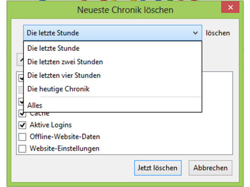 Browserverlauf löschen: So klappt´s bei Firefox ©COMPUTER BILD