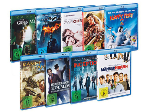 Diverse Blu-ray-Filme ©Lidl