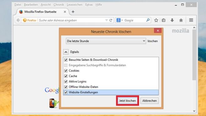 Browser-Verlauf löschen: Firefox ©COMPUTER BILD