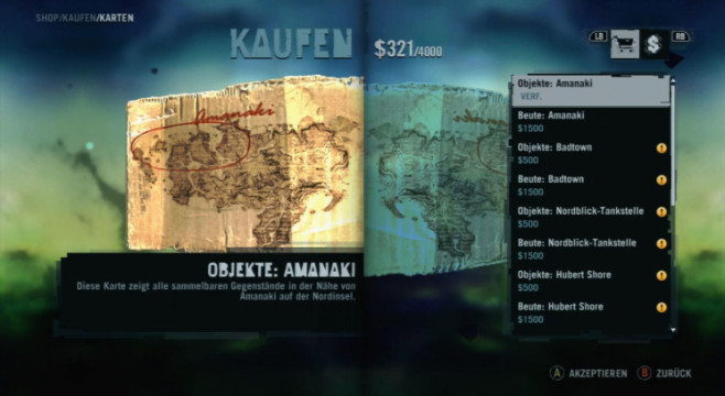 Actionspiel Far Cry 3: Karte © Ubisoft