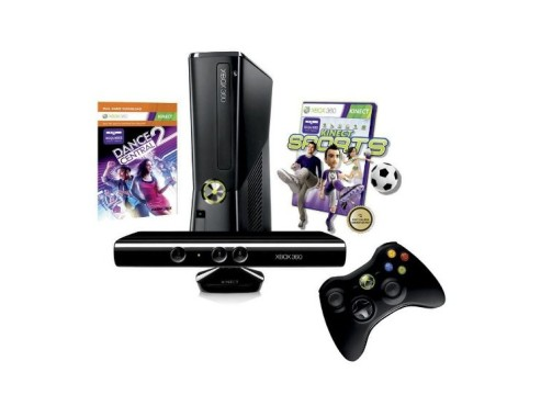 Microsoft Xbox 360 250GB Kinect + Dance Central 2 + Kinect Sports © Amazon