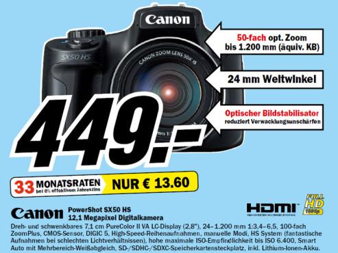 Canon PowerShot SX50 HS ©Media Markt