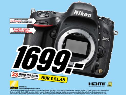 D600 Body ©Media Markt