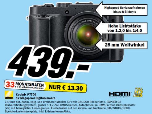 Nikon COOLPIX P7700 ©Media Markt