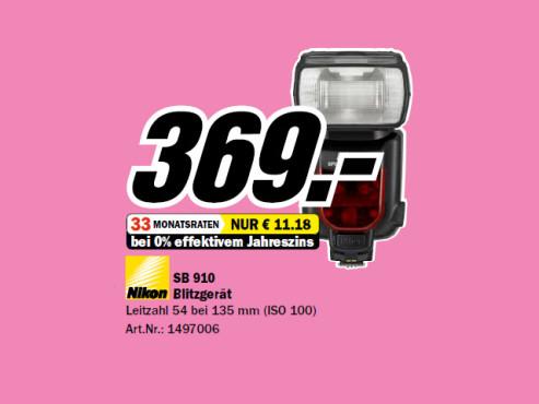 Nikon SB-910 ©Media Markt