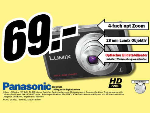 Panasonic Lumix DMC-FS28 © Media Markt