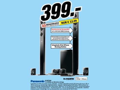 Panasonic SC-BTT490 ©Media Markt
