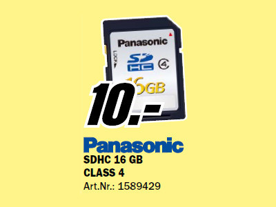 Panasonic SDHC Card Silver 16 GB Class 4 © Media Markt