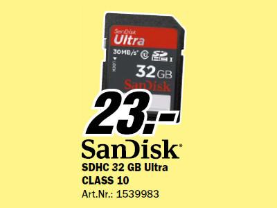 Sandisk SDHC Karte Ultra 32GB Class 10 UHS-I ©Media Markt