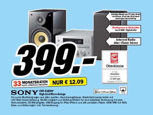 Sony CMT-G2BNiP ©Media Markt