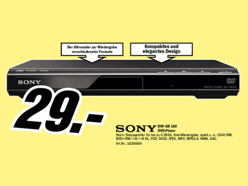 Sony DVP-SR160 ©Media Markt