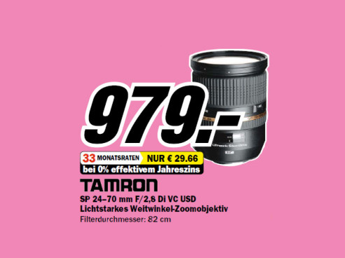 Tamron SP 24-70mm f2.8 Di VC USD © Media Markt