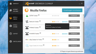 Avast Browser Cleanup Screenshot © COMPUTER BILD