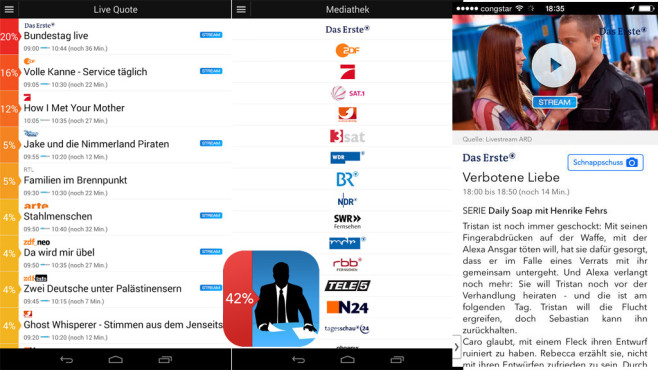 Live TV – Quote & Live Streams © Live TV GmbH