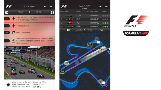 Official F1 App © Formula One Digital Media Ltd