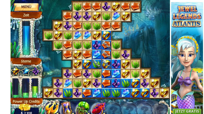 Screenshot Minigame Jewel Legends Atlantis © Intenium