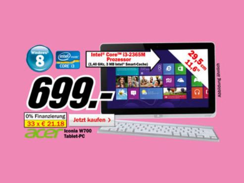 Acer Iconia Tab W700 (NT.L0EEG.001) ©Media Markt