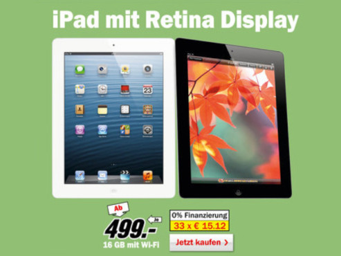 Apple iPad 4 16GB WiFi © Media Markt