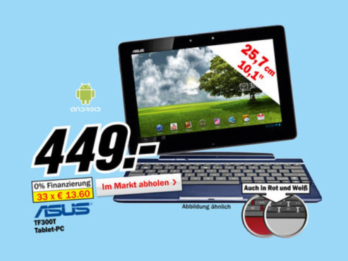 Asus Transformer Pad TF300T 32GB Blau + Dock © Media Markt