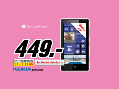 Nokia Lumia 820 ©Media Markt