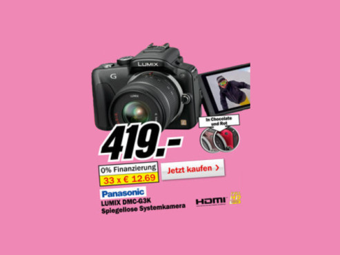 Panasonic Lumix DMC-G3 Kit 14-42 mm (DMC-G3K) © Media Markt