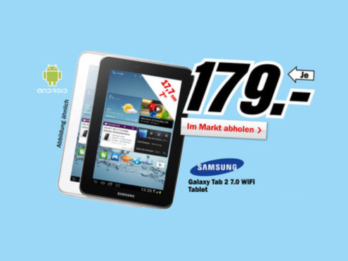 Samsung Galaxy Tab 2 (7.0) © Media Markt