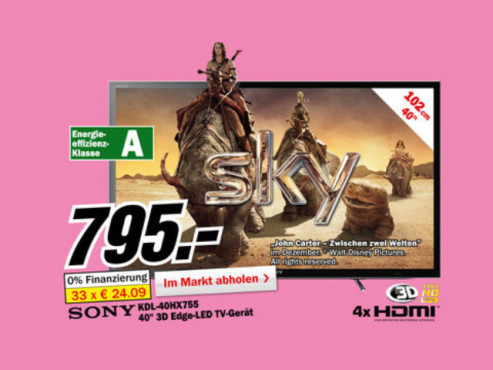 Sony KDL-40HX755 ©Media Markt
