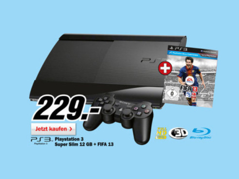 Sony Playstation 3 (PS3) Super slim 12GB © Media Markt