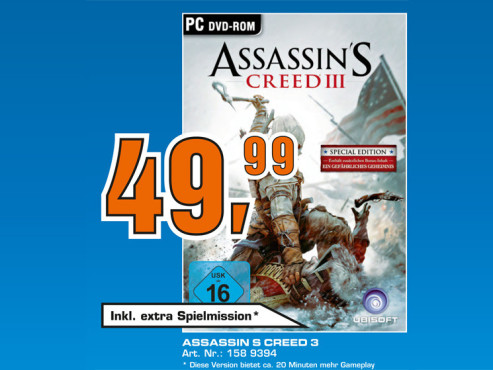 Assassin's Creed 3: Special Edition © Saturn